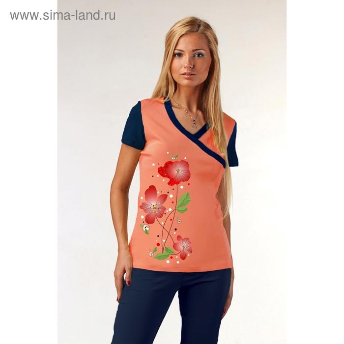 Комплект женский (футболка, бриджи) М-88к-09 коралл, р-р 46