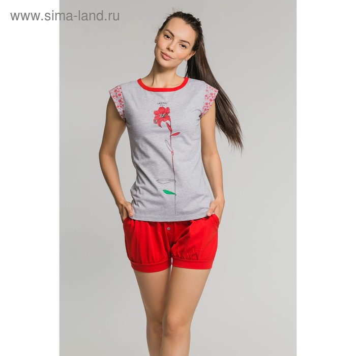 Комплект женский (футболка, шорты) М-568-09, р-р 46