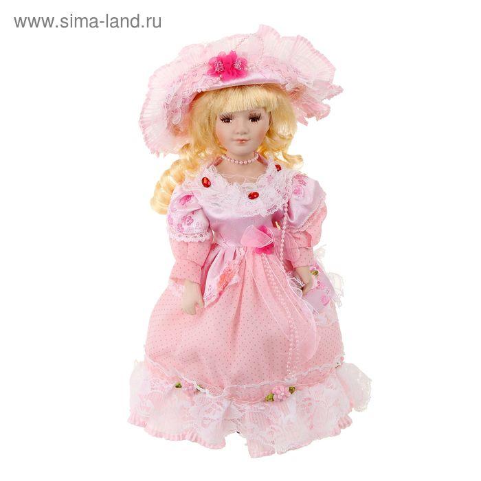 """Кукла коллекционная """"Елизавета в розовом платье"""""""