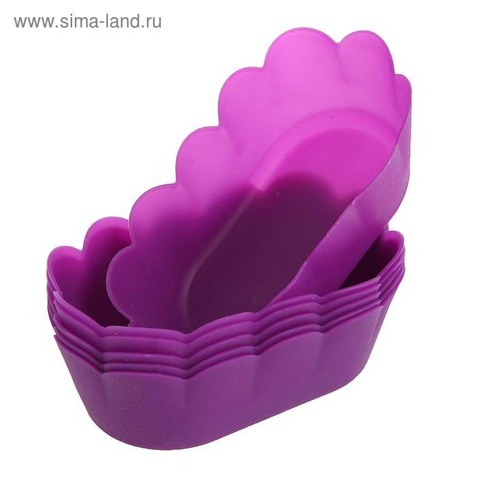 """Набор форм для выпечки, 6 шт, 7,5х4х3,5 см """"Кексик"""", цвета МИКС"""