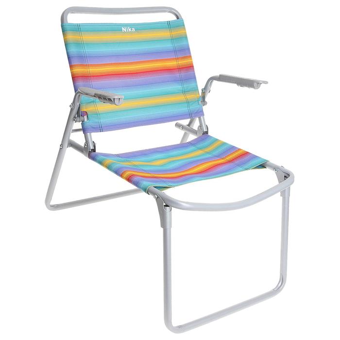 Кресло-шезлонг складное К1, 73 x 57 x 64 см, цвет радуга