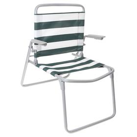 Кресло-шезлонг складное  ткань ПВХ, размер 730x570x640 мм,  цвет зелено-белый  К1 Ош