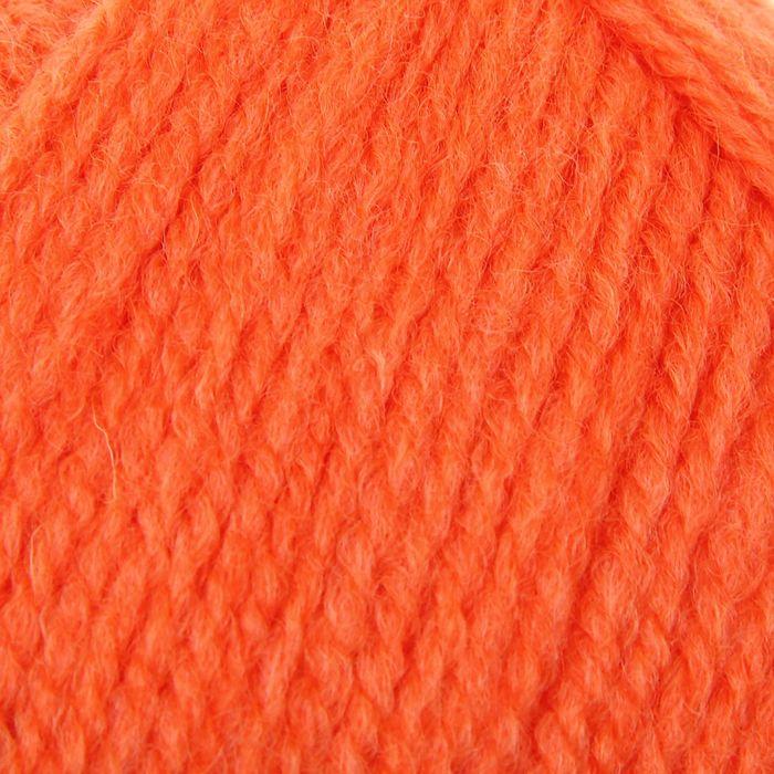 """Пряжа """"Аврора"""" 30% шерсть, 70% акрил 220м/100гр (1624, оранжевый)"""