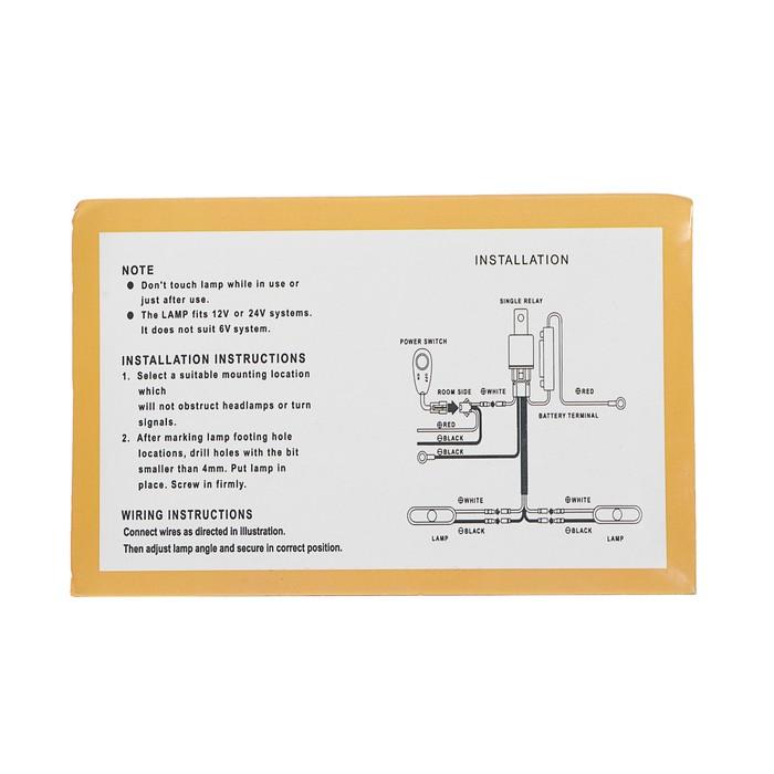 Противотуманная фара d60 мм, IP65, 6Вт, 12В, H3, стекло прозрачное, комплект 2шт