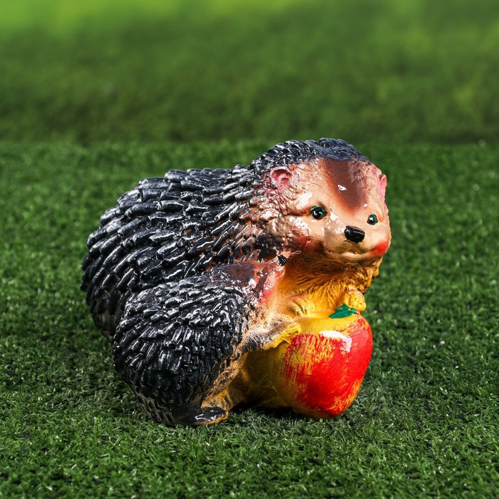 """Садовая фигура """"Ежонок и ежиха с яблоком"""""""