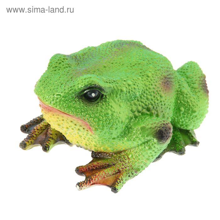 """Садовая фигура """"Салатовая жаба"""""""