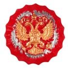 Герб круглый красный, золото