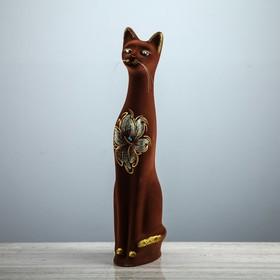 """Копилка """"Кот"""", покрытие флок, коричневая, 49 см"""