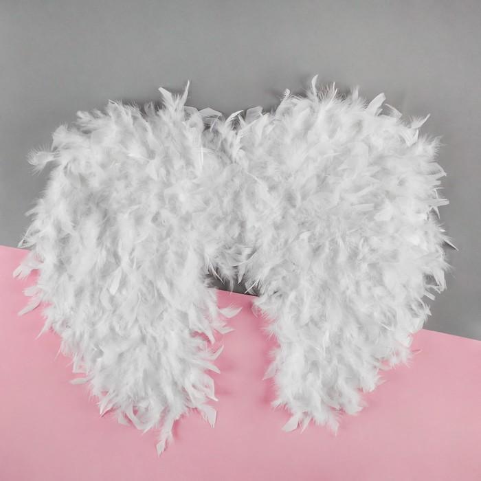 Крылья ангела «Вдохновение», на резинке, цвет белый - фото 452831