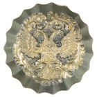 Герб круглый серый, серебро