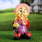 """Садовая фигура """"Гном с божьими коровками"""", разноцветный, 32 см"""