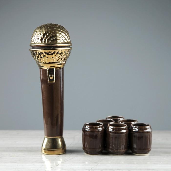 "Штоф с рюмками ""Микрофон"", 7 предметов, 0,45 л, 0,05 л"
