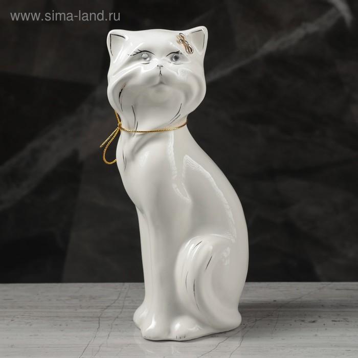 "Копилка ""Кошка Матильда"" глянец, белая"