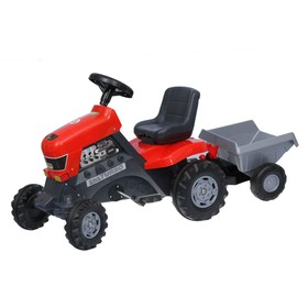 Толокар-трактор с педалями «Turbo», с полуприцепом