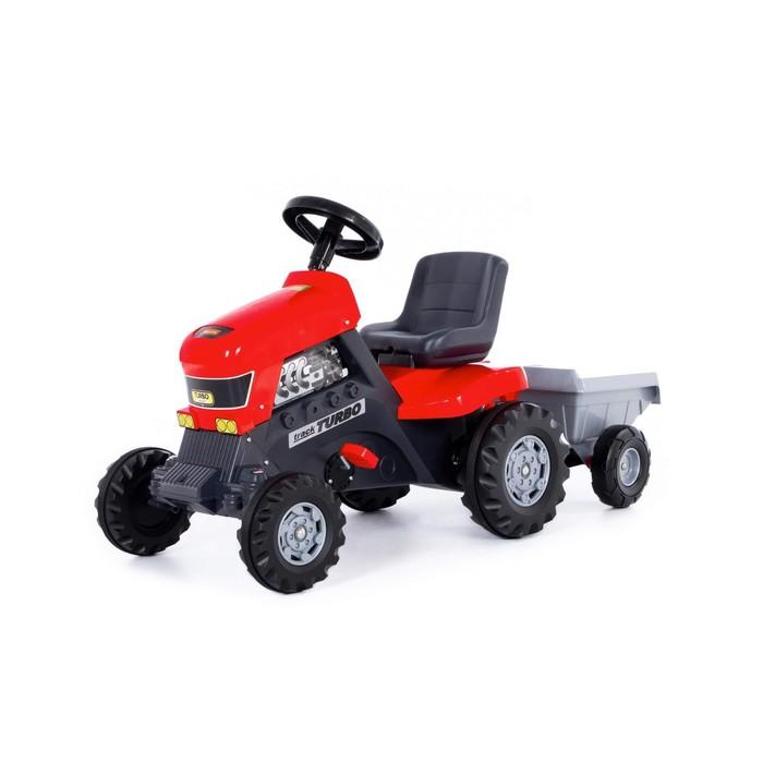 Педальная машина для детей «Turbo», с полуприцепом