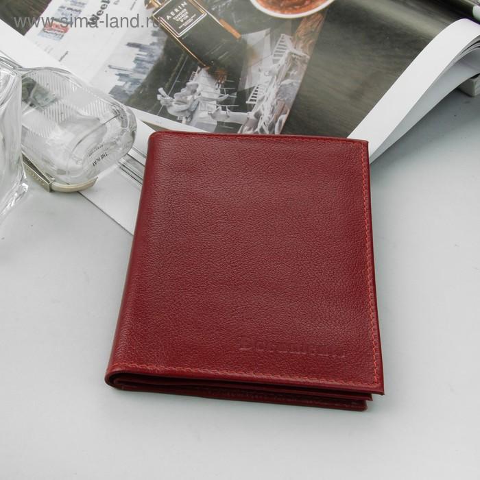 Обложка для автодокументов и паспорта, красный матовый