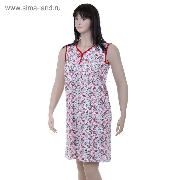 Сорочка женская LS 01-006 МИКС, р-р 50