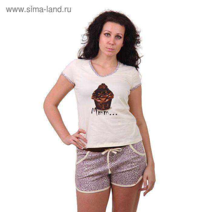 Пижама женская (футболка, шорты) W M104, р-р 50