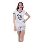 Пижама женская (футболка, шорты) W SC103, принт Коты, р-р 50
