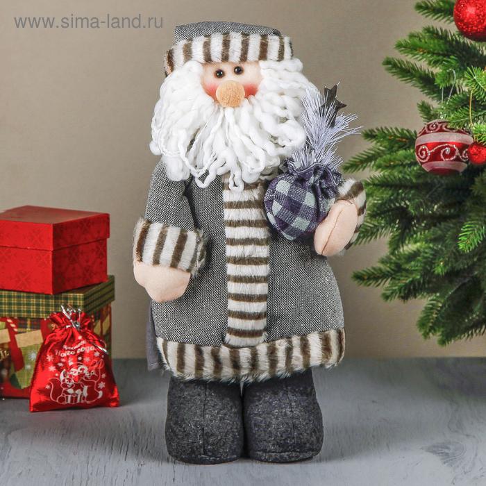 """Мягкая игрушка """"Дед Мороз в серой шубе"""""""
