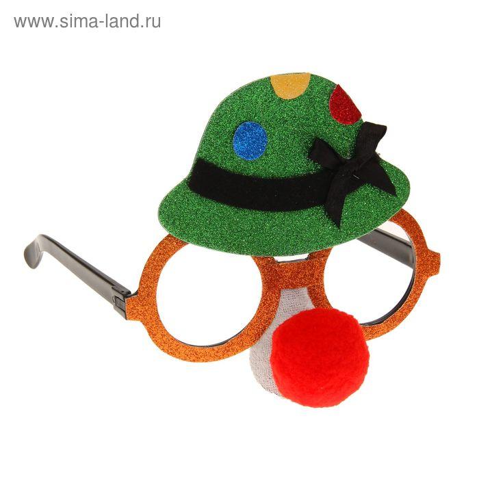 """Очки-маска """"Очаровашка"""", с красным носом"""