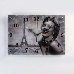 """Часы настенные, серия: Город, """"Мэрилин Монро в Париже"""", 25х35  см, микс"""