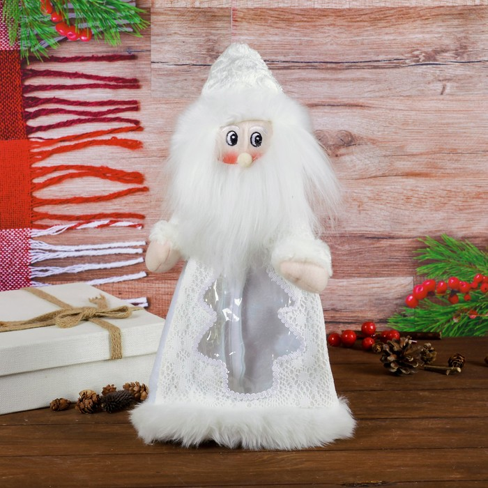Подарочная упаковка «Дед Мороз», мохнатая борода, 800 г