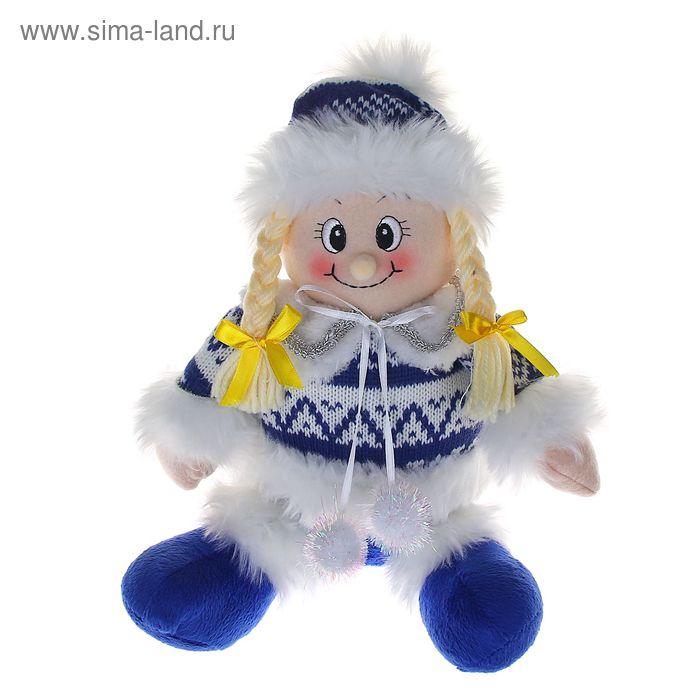 """Мягкая игрушка """"Девочка в бело-синем свитерке"""""""