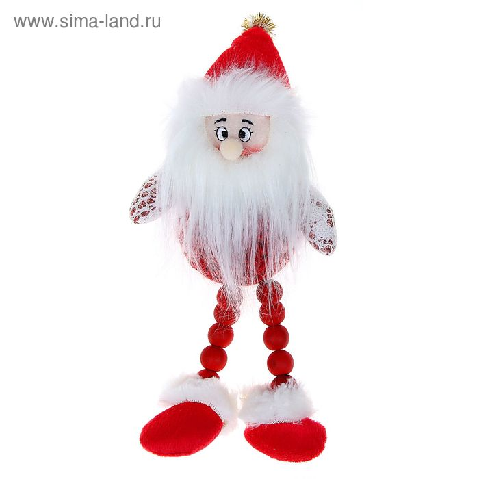 """Мягкая игрушка """"Дед Мороз"""" красный клубок"""