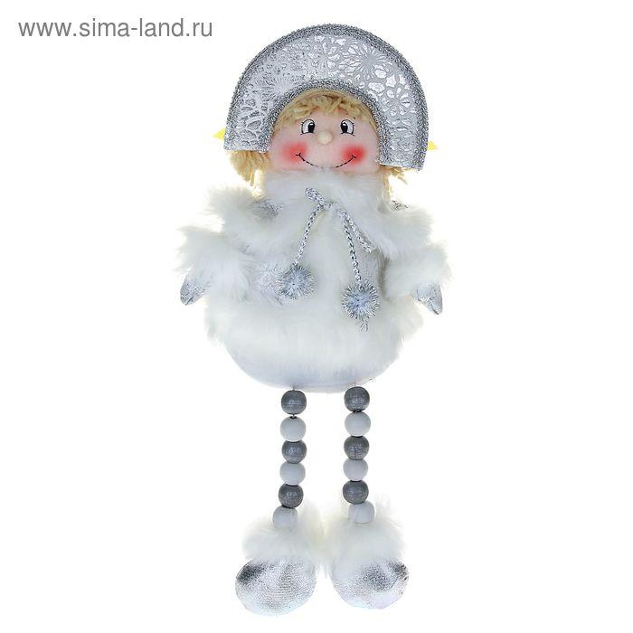 """Мягкая игрушка """"Снегурочка"""" (кружевная, ножки-бусины)"""