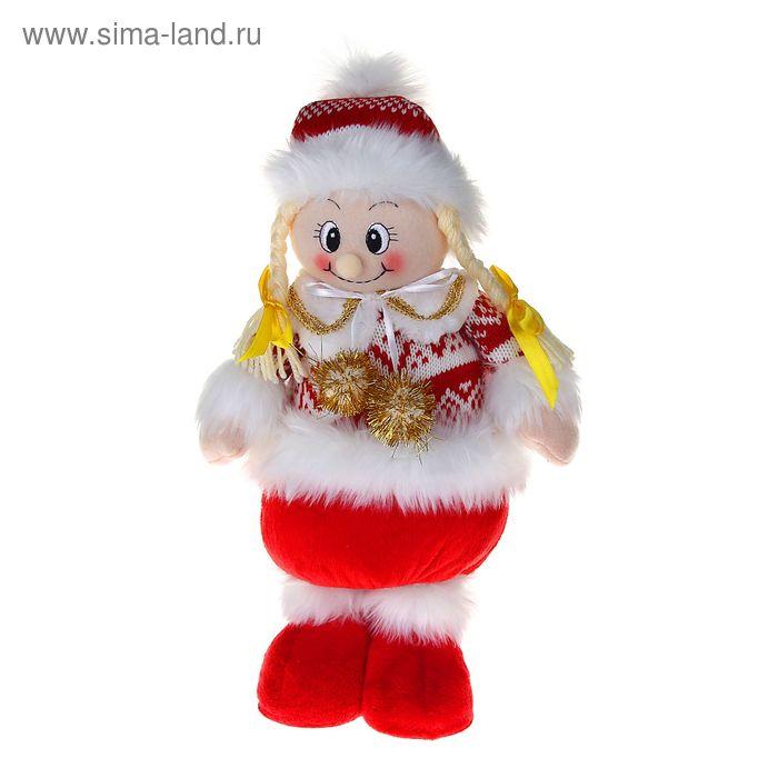 """Мягкая игрушка """"Снегурочка"""" (бело-красный свитерок)"""