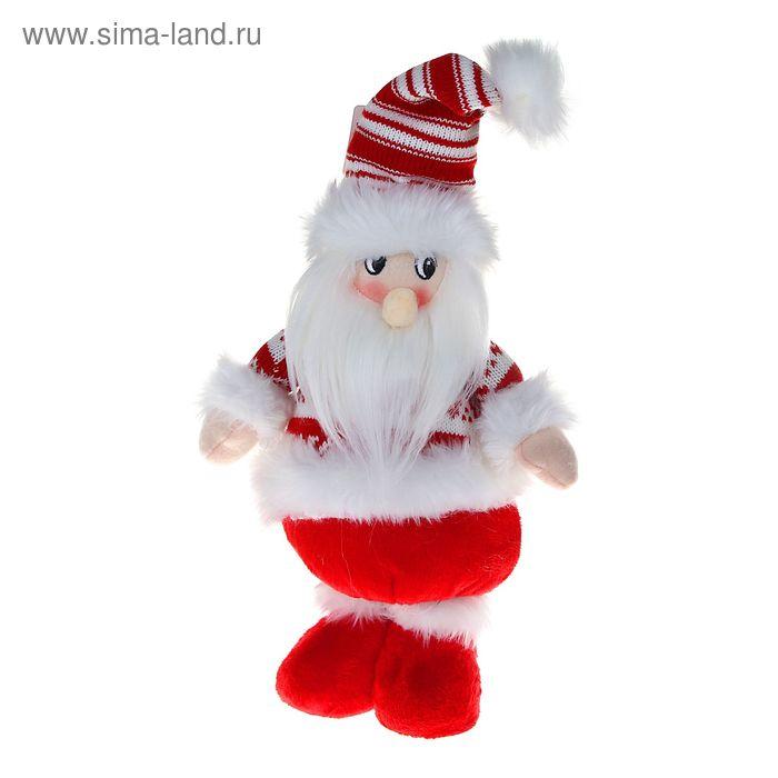 """Мягкая игрушка """"Дед Мороз"""" (бело-красный свитерок)"""
