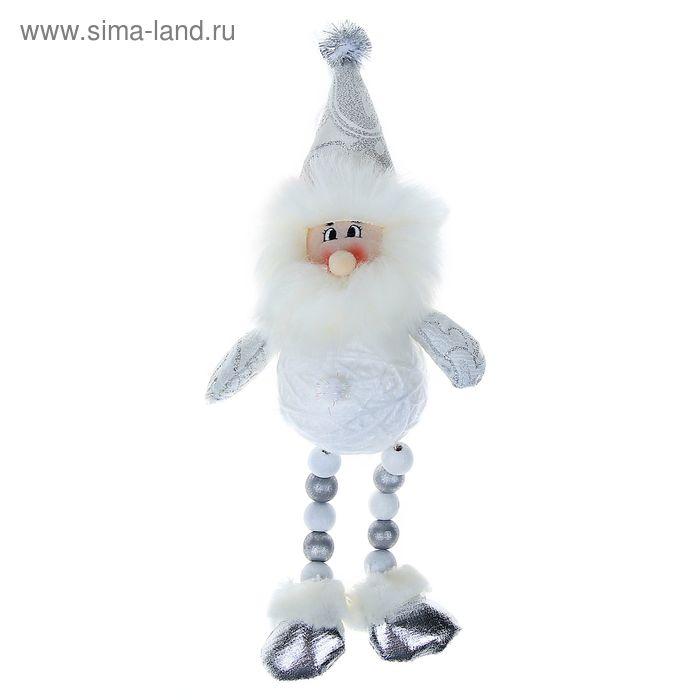 """Мягкая игрушка """"Дед Мороз"""" (клубок, кружевной, ножки-бусины)"""