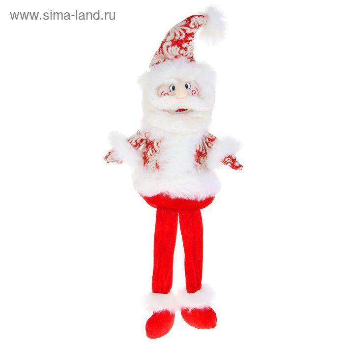 """Мягкая игрушка """"Дед Мороз"""" (красный, кружевной, длинные ножки)"""