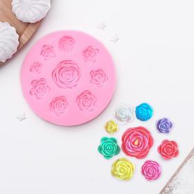Молд силиконовый «Круговорот роз», 9,5 см, цвет МИКС