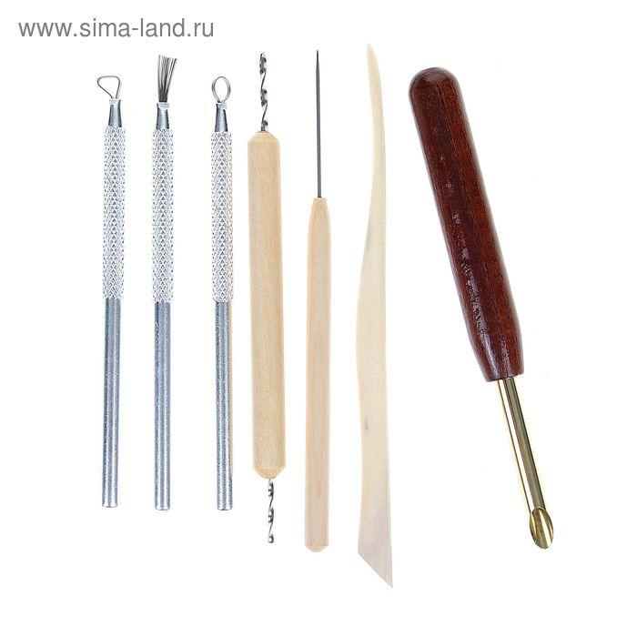 Набор инструментов для лепки, 7 предметов