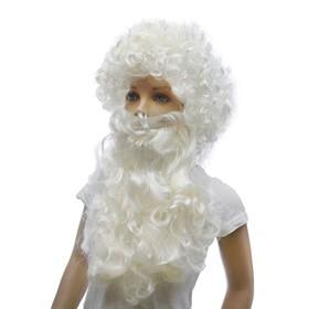 Карнавальный набор «Дед Мороз», кудрявая борода, парик
