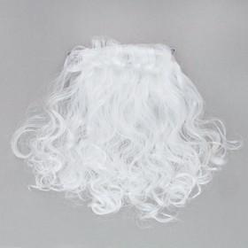 Карнавальная борода «Дед Мороз», на резинке, 50 г, 38 см