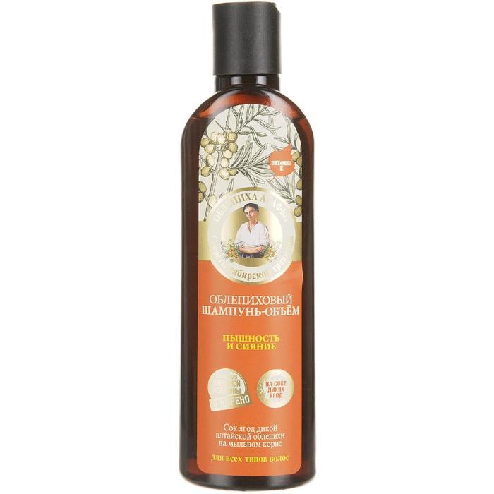 Шапнунь для волос Рецепты бабушки Агафьи облепиховый объем, пышность, сияние, 280 мл