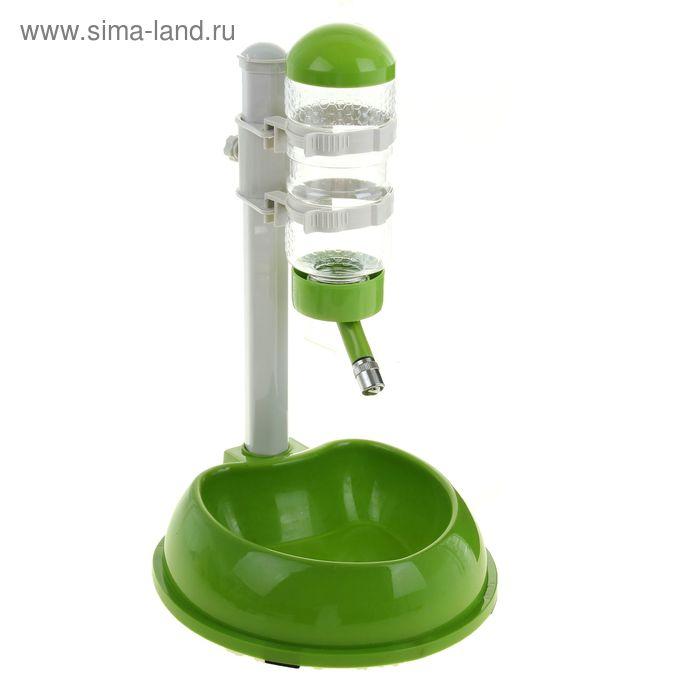 Комплекс поилка и миска ( объем поилки 500 мл), зеленый