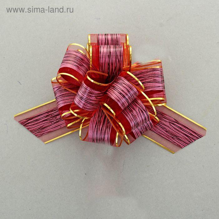 """Бант-шар №5 """"Узор"""", цвет красный"""