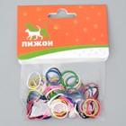 Резинки для животных,  набор 100 шт, микс цветов