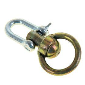Вертлюг бычий со скобой, общая длина 10,5 см, диаметр кольца 5,4 см, толщина проволоки 0,7 Ош