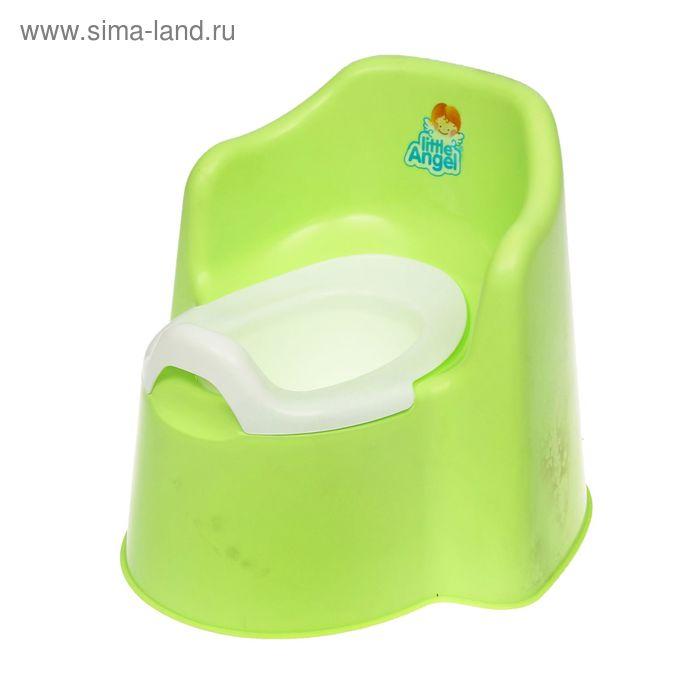 Горшок детский Little King, съёмная чаша, цвет салатовый