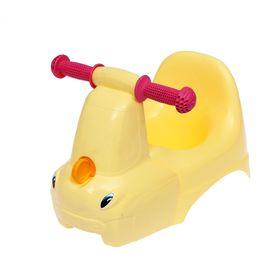 Горшок-игрушка «Грузовичок», цвет пастельно-жёлтый