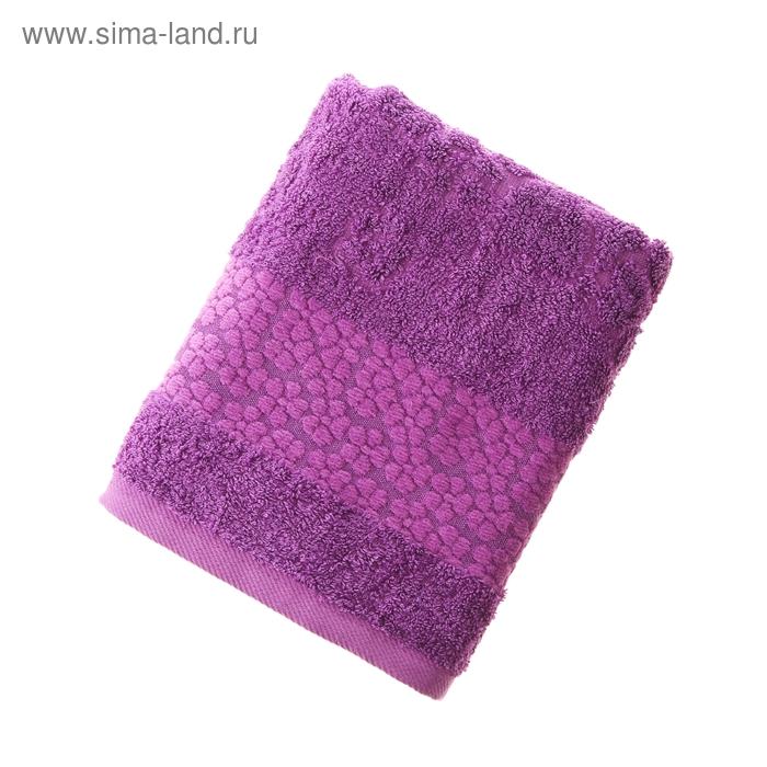 Полотенце махровое Fiesta Fidan Soffi 50*90 см фиолетовый 500гр/м, бамбук