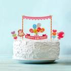 """Украшение для торта """"Праздник"""": 1 растяжка, пики 8 шт."""