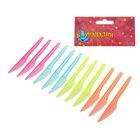 Набор пластиковых ножей (набор 12 шт), цвета МИКС