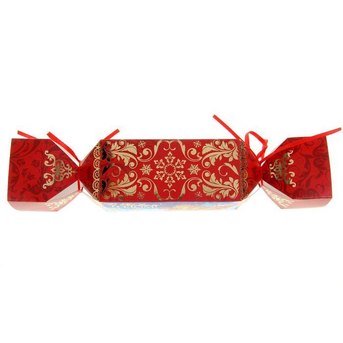 Складная коробка‒конфета «Новогодняя тройка», 11 х 5 х 5 см