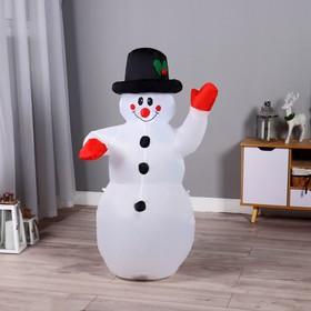 Надувной Снеговик светится 120 см